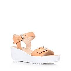Miss KG - Tan 'Petunia' mid wedge heel sandal