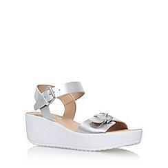 Miss KG - Silver 'Petunia' mid heel wedge sandal