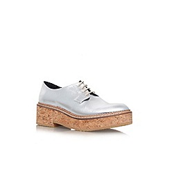 KG Kurt Geiger - Silver 'Ludo' low platform sole brogue shoe