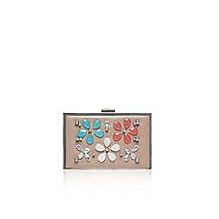 Carvela - Nude 'Daisy jewel' clutch bag