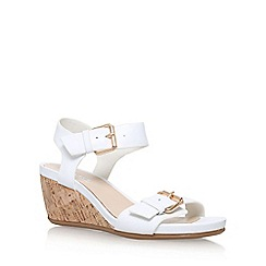 Carvela Comfort - White 'Splinter' mid wedge heel sandal