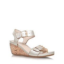 Carvela Comfort - Gold 'Splinter' mid wedge heel sandal