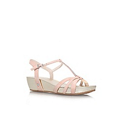 Carvela Comfort - Nude 'Solar' low wedge heel strappy sandal