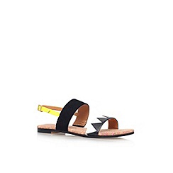 Miss KG - Black/white 'Rochana' flat sandal