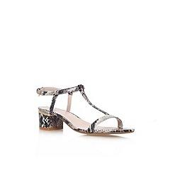 Carvela - Beige comb 'Suki' low heel sandal