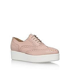 Carvela - Natural 'Leslie' lace up platform brogue shoe