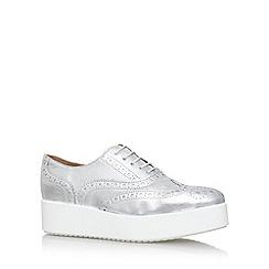 Carvela - Silver 'leslie' mid heel lace up shoe