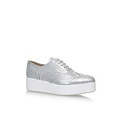 Carvela - Silver 'Leslie' flat lace up shoes