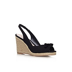Carvela - Black 'Suzie' high wedge heel shoe