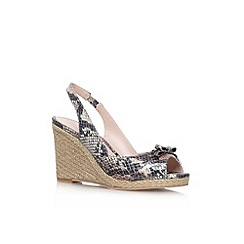 Carvela - Beige comb 'Suzie' high wedge heel shoe