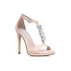 Miss KG - Nude 'Elsa' high heel embellished sandal