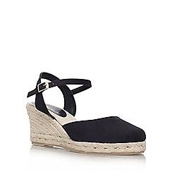 Carvela - Black 'Sabrina' mid wedge heeled court shoe