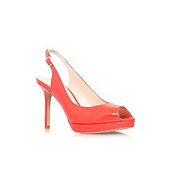 Vince Camuto - Orange 'Cavi' high heel slingback peep toe court shoe
