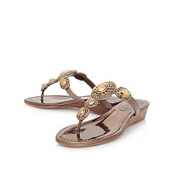Vince Camuto - Bronze 'ilina' flat leather toe post sandal