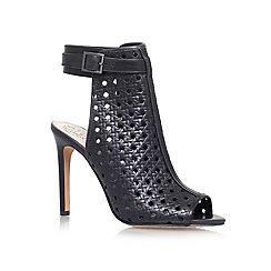 Vince Camuto - Black 'Karsten' High heeled peep toe shoe boot