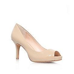 Vince Camuto - Natural 'Kiley' High heeled peep toe court