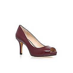 Vince Camuto - Wine 'Kiley' high heel peep toe court shoes