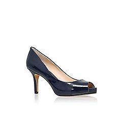 Vince Camuto - Navy 'Kiley' high heel peep toe court shoes