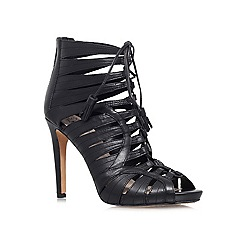 Vince Camuto - Black 'narrital' high heeled leather lace up shoe boot