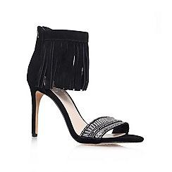 Vince Camuto - Black 'TRUMEN' High heeled fringed sandal