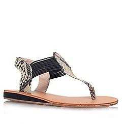 Carvela - Beige 'Bobby' flat toe post sandal