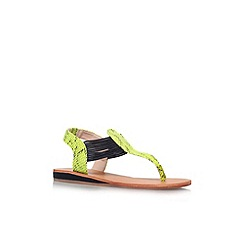Carvela - Lime 'Bobby' flat toe post sandal