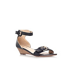 Miss KG - Black 'Leanne' low wedge heel strappy sandal