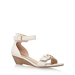 Miss KG - White 'Leanne' mid heel wedge sandals