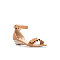 Miss KG - Tan 'Leanne' low wedge heel strappy sandal