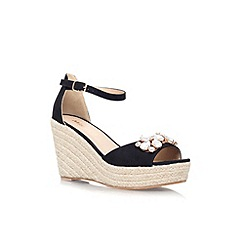 Miss KG - Black 'Lucie' high wedge heel sandal