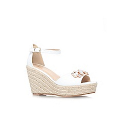 Miss KG - White 'Lucie' wedges sandal
