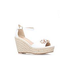 Miss KG - White 'Lucie' wedges sandal
