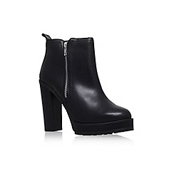 KG Kurt Geiger - Black 'Swift' Leather ankle boot