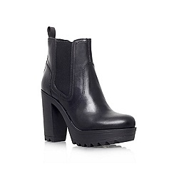 KG Kurt Geiger - Black 'Silver' Leather boot