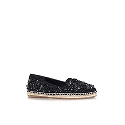 KG Kurt Geiger - Black 'Myrtle' flat slip on embellished shoe