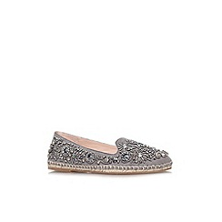 KG Kurt Geiger - Grey 'Myrtle' flat slip on embellished shoe
