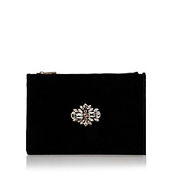 Miss KG - Black 'Helena' embellished bag with shoulder chain