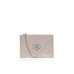 Miss KG - Silver 'Helena' clutch bag