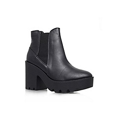 Miss KG - Black and other 'Stomp' mid heel ankle boot