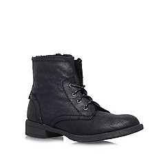 Carvela - Black 'TAFFY' Flat lace up ankle boot