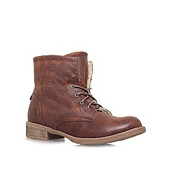 Carvela - Brown 'TAFFY' Flat lace up ankle boot