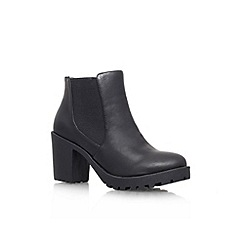 Carvela - Black 'Stampede' mid heel ankle boot
