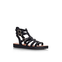 Miss KG - Black 'Devon' flat strappy sandal