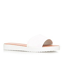 Miss KG - White 'Didi' flat slip on sandals