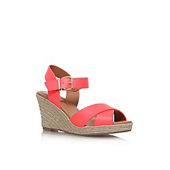 Miss KG - Pink 'Pineapple' mid wedge heel sandal