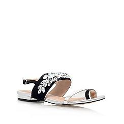 Carvela - Black 'krumpet' flat embellished sandal