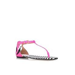 Miss KG - Black 'Dory' flat printed sandal