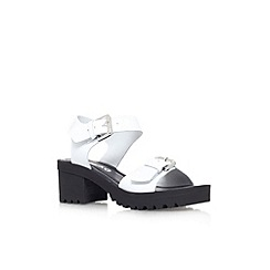 Miss KG - White 'Petal' leather sandal