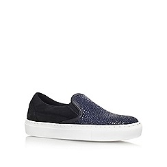 KG Kurt Geiger - Blue 'Londres' Leather/suede sneakers