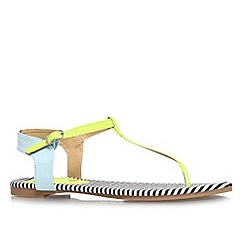 Miss KG - Black 'Rue' flat printed sandal
